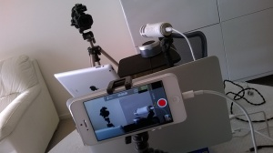 iPhone 5 filming setup